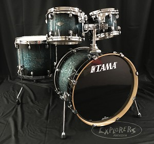 Tama Starclassic Performer 4pc Molten Steel Blue Burst Drum Kit Shell pack