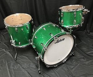 Ludwig Drum Set USA Oak Series FAB 3 Piece Shell Pack in Green Sparkle - Open Box