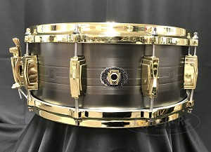 Ludwig Snare Drum USA 5.5x14 Heirloom Black Brass 110th Anniversary w/ Bag
