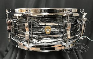 Ludwig Snare Drum 5.5x14 Jazz Fest Series 3 Ply Legacy Mahogany  Shell in Vintage Black Oyster
