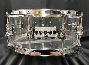 PDP Snare Drum 6x14 Chad Smith Signature Clear Acrylic Shell