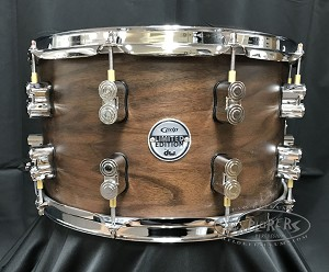 DW PDP Limited Edition Snare Drum 8x14 Concept Series Maple/Walnut 20 Ply Hybrid Shell - Natural Satin Finish