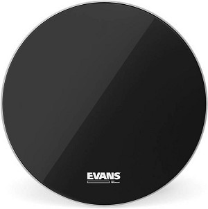 Evans Resonant Black Single Ply Bass Drum Head - No Porthole