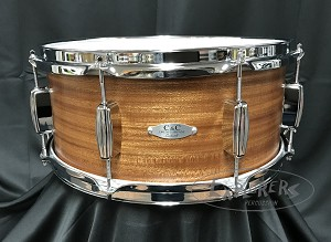 C&C Custom Snare Drum 6.5x14 12th & Vine Mahogany/Poplar Shell in Ribbon Mahogany