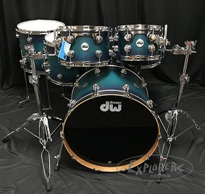 DW Drum Set Collector's Series 5 Piece Cherry Shell Pack in Regal to Royal Hard Satin Burst