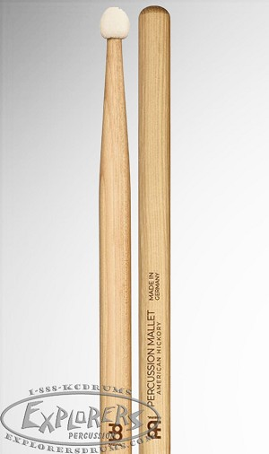 Meinl Round Felt Tip Percussion Light Hickory Mallet Pair