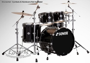 Sonor Drum Set Select Force Stage 3 5-Piece Shell Pack - Piano Black