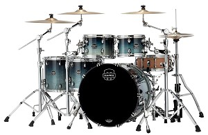 Mapex Drum Set Saturn Studioease 5 Piece Maple / Walnut Shell Pack in Teal Blue Fade Lacquer - Open Box Special