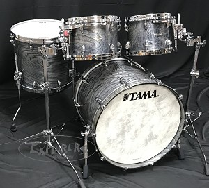 Tama Drum Set Star Series 4 Piece Walnut Shell Pack in Satin Charcoal Japanese Sen - 20,10,12,16