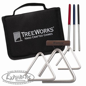 Treeworks set of 3 Triangles with 4 Beaters and Case