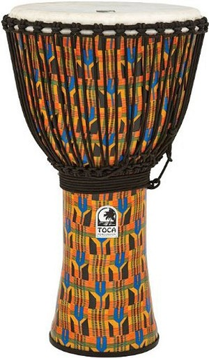 "Toca 14"" Freestyle Djembe in Kente Finish and Free Bag"