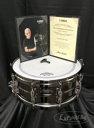 Yamaha Snare Drum Steve Gadd Signature Limited Edition 5.5x14 Steel Shell Finished in Black Nickel