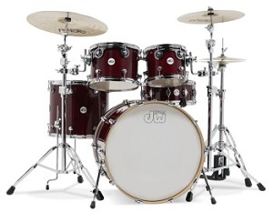 DW Drum Set Design 5 Piece Shell Pack in Cherry Stain Lacquer