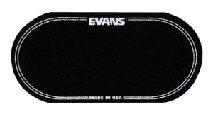 Evans Black Double Beater Bass Drum Patch 2 Pack