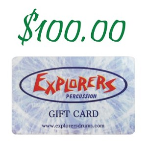 Explorers Percussion $100 Gift Card