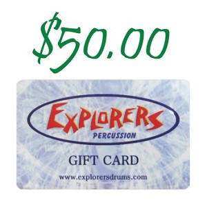 Explorers Percussion $50 Gift Card