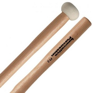Innovative Percussion FT2 Hard Felt Head Wood Hickory Tenor Mallets