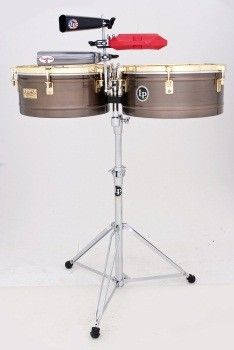 LP Karl Perazzo Signature Series Timbales/Antique Bronze with Gold Hardware