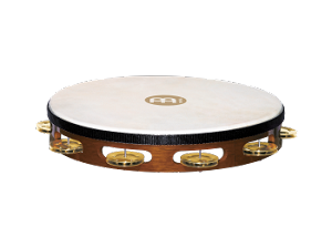 "Meinl 10""  Single Row Brass Tamborine"