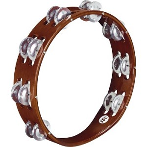 "Meinl Traditional Headless Wooden Tambourine, 10"" with Aluminum Jingles"
