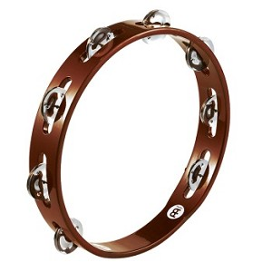 "Meinl Traditional Wood Tambourine 10"", Headless with Steel Jingles"