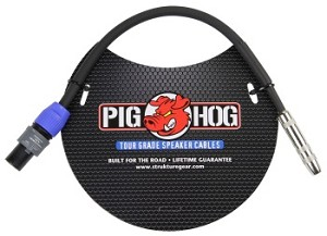 "Pig Hog 1 Foot 1/4"" Female to SPKON Adapter"