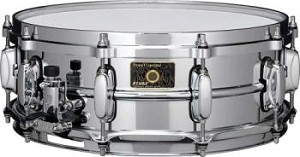 Tama Snare Drum Stewart Copeland 5X14  Signature Palette Chrome Over Brass Shell