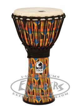 "Toca 10"" Freestyle Djembe in Kente Finish"